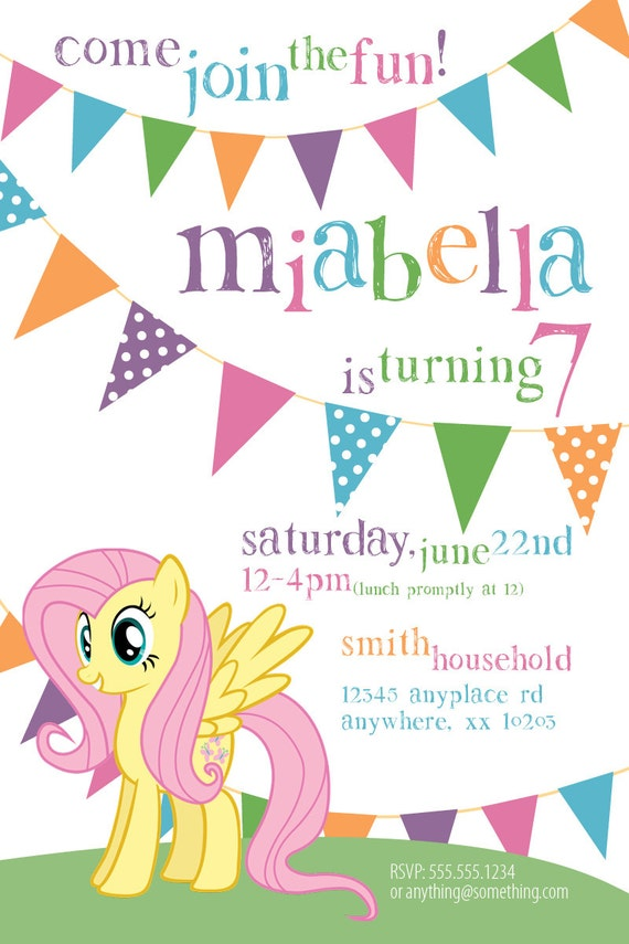 My Little Pony Custom Invitations was good invitations ideas