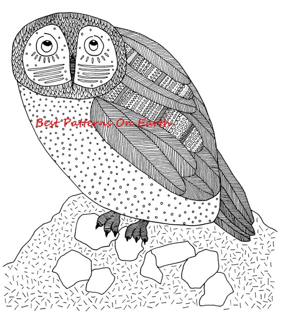 aztec owl coloring pages - photo#3