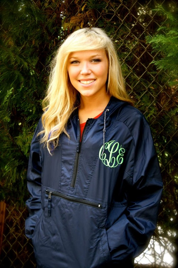 MONOGRAMMED Hooded Rain Jacket-Monogrammed by littlestarsclothing
