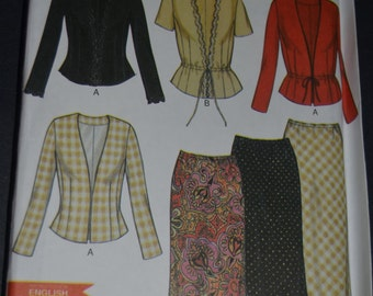 New Look 6052  Womens Jacket  and Skirt Sewing Pattern - UNCUT- Size 8 - 18