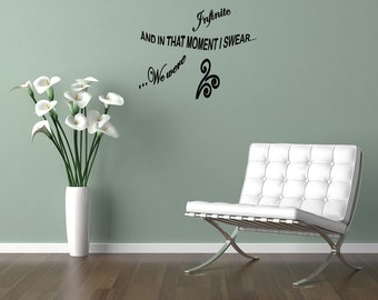 Wall Quotes That Moment I Swear We Were Infinite Perks of Being A Wallflower Vinyl Wall Decal Quote Removable Wall Sticker Home Decor (M20)