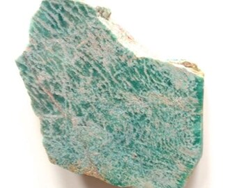 Large Amazonite rock, rough gemstone, natural rock, green, mineral, crystal, teal blue, silicates, potash, healing, wicca, metaphysical