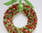 "Christmas Fabric ""Scrap"" Wreath"