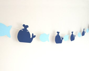 Whale and Fish Garland 6 ft