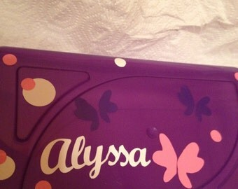 Personalized girls pencil case