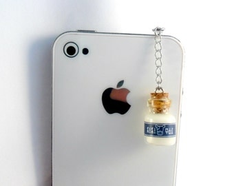 Legend Of Zelda Lon Lon Milk Phone Charm, Dust Plug or Cell Phone Strap, for iPod or iPhone :D
