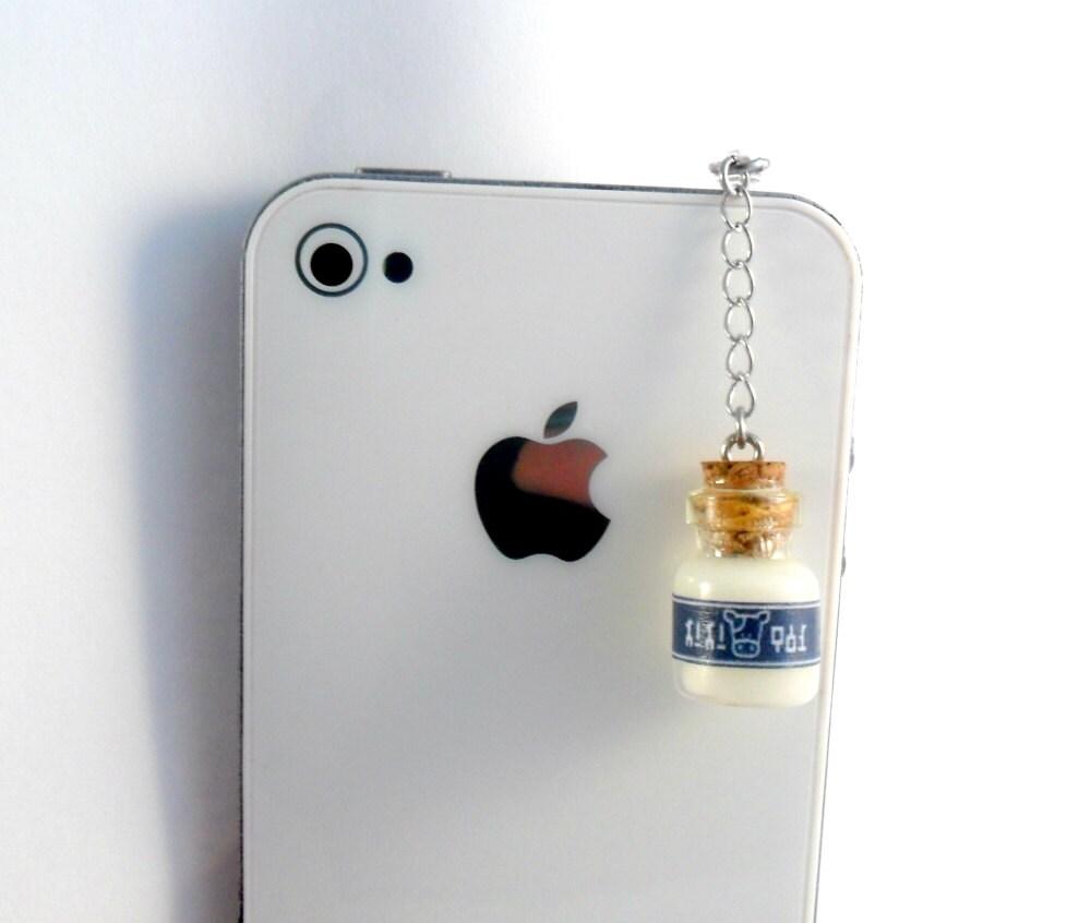 legend of lon lon milk phone charm dust by alilbitofcute