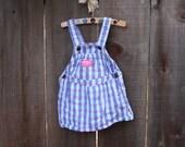 Vintage Plaid OshKosh Dress - Size 2t