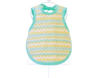 Dress-Up Bib & Burp Cloth - Organic Baby Shower Gift - Mint Baby - Photo Prop - SEAFOAM