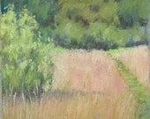 "Original Pastel Landscape Painting - ""Walking In July "" by Colette Savage"