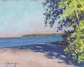 "Original Pastel Landscape Painting - Summer's Over "" by Colette Savage"
