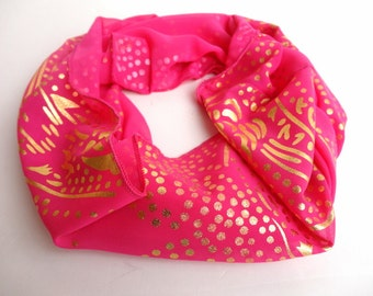 Pink Scarf Women Infinity Scarf Shawl Scarf Chiffon Scarf Circle Scarf Women Scarves  Valentines Day Christmas gifts for her Holiday Gifts