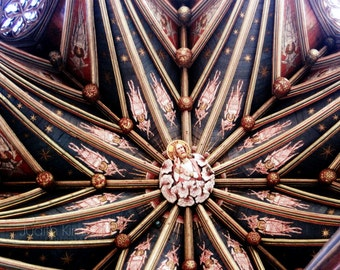 English Church Photography - Cathedral Ceiling Fine Art Photograph - Ely Cathedral, England - Architecture Print - 8x10