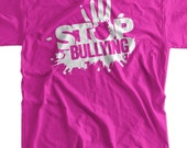 Anti Bullying Stop Bullying T-Shirt school pink shirt day Tshirt - Screen Printed T-Shirt Tee Shirt T Shirt Mens Youth Kids Funny Geek