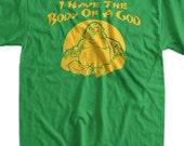 Funny God Buddah Buddha Body Dad Fathers Day Christmas T-Shirt - Body Of A God Geek Yoga Gift Mens Ladies Womens Youth