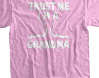 Grandma T-Shirt  New Baby Gift I'm A Grandma T-Shirt Screen Printed T-Shirt Tee Shirt T Shirt Ladies Womens Youth Kids