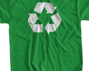 Funny Recycle Green Living Eco Friendly T-Shirt - Recycle Tee Shirt T Shirt Green Living Geek Mens Ladies Womens Youth Kids