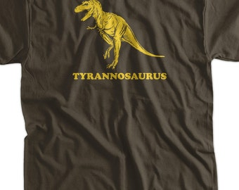 Tyrannosaurus Dinosaur Screen Printed T-Shirt Tee Shirt T Shirt Mens Ladies Womens Youth Kids Funny Geek Science