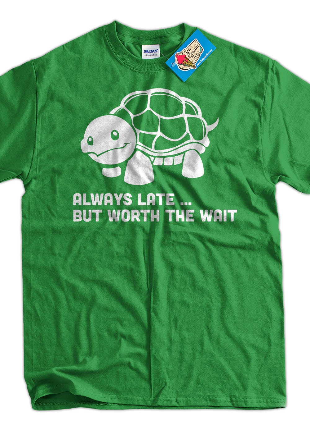 funny turtle t shirt always late but worth the wait t shirt