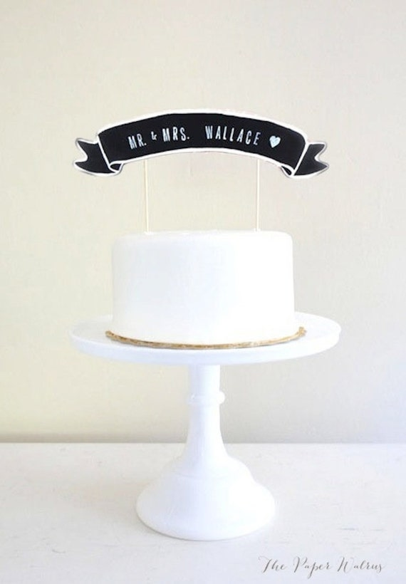 Banner Wedding Cake Topper Wedding Cake Topper