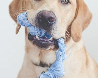 Handmade Recycled Denim Dog Toy