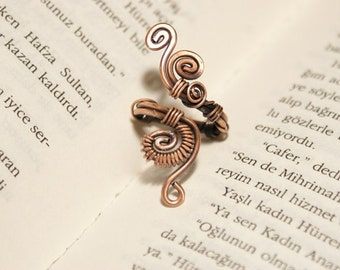 wire wrapped ring wire wrapped jewelry handmade copper ring copper jewelry wire wrap jewelry