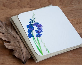 Gladiolus Personalized Stationary Set - Personalized Stationery Gift