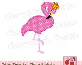"Flamingo Machine Embroidery Applique -4x4 5x5 6x6"""