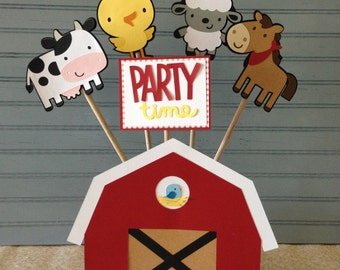 Farm Animals Birthday Centerpiece