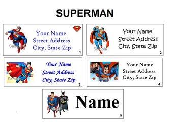 CUTE Superman Return Address, Party & Name Sticker Labels
