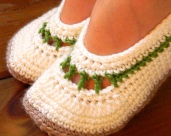 Instant download - PDF crochet pattern - Women crochet slipper # 35