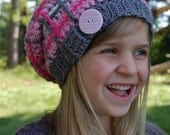 """Crochet Pattern: """"Perfectly Plaid"""" Slouch Hat, Permission to Sell Finished Items"""