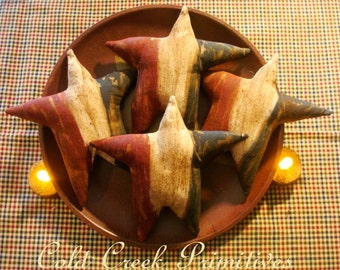 Primitive Americana Star Ornies Tucks Bowl fillers