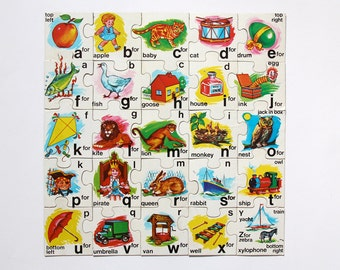 Vintage Philmar Fun to Learn ABC jigsaw puzzle