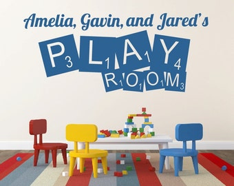 Play Room Wall Decal Play Room Decor Personalized Wall Decal Name Wall Decal Playroom Decor Playroom Decal Vinyl Lettering Nursery Decor