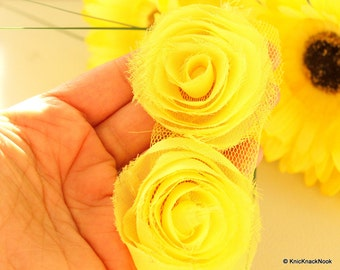 Yellow Rose One Yard Lace Trims Approx. 6 cm Wide