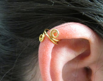 Ear Cuff, Ear Wrap, Brass Ear Cuff, Brass Ear Wrap, Simple Ear Cuff, Cartilage Cuff, Cartilage Earring, Helix Cuff, Helix Earring