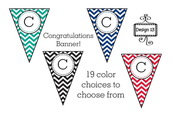 Eloquent image with congratulations banner printable