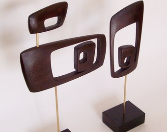 mid century modern abstract sculpture retro danish modern 1960s 1950s