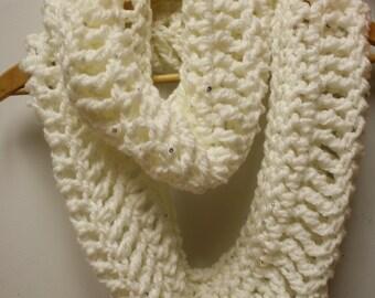58. Crochet Infinity Scarf: Snow Crystals