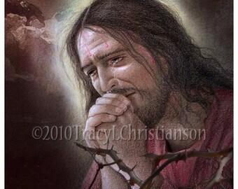 The Agony of Jesus in the Garden of Gethesemane Art Print #4001