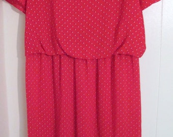 Vintage Nicki's Girl red pattern dress