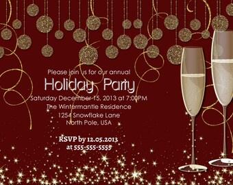 Holiday invitation   Etsy