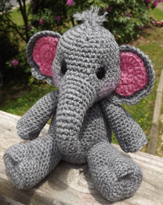 Crochet Patterns Elephant : Baby Elephant Amigurumi Crochet Pattern PDF Doll not included
