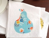 Tea Towel Flour Sack Kitchen Towel Pear Kitchen Decor