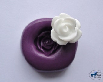 Small Rose Mold - Silicone Mold - Flower - Polymer Clay Resin Fondant