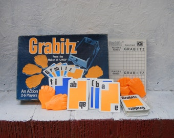 Grabitz Card Game by the Maker of UNO 1979 Family Action Card Game Family Fun. Vintage