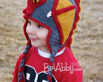Crochet Dragon Hat Pattern (PDF FILE)
