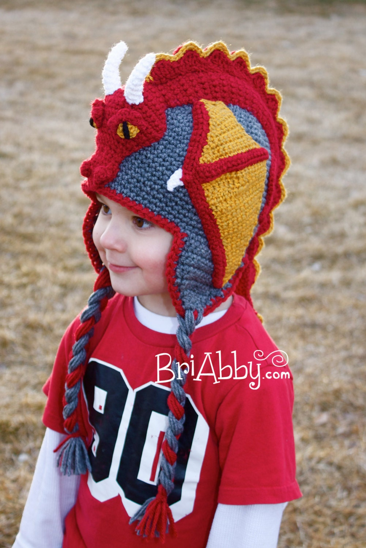 Baby Dragon Hat Crochet Pattern Free : Crochet Dragon Hat Pattern PDF FILE