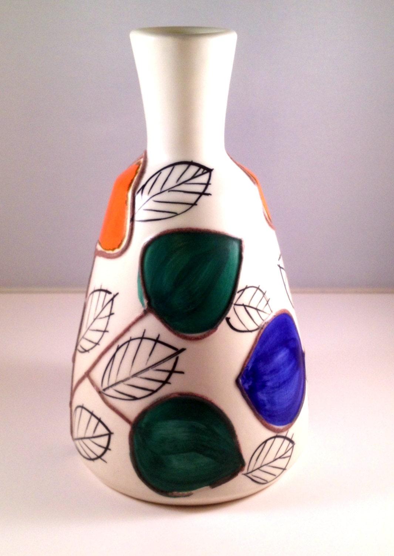 50s Lovely Vintage Modern Smf Schramberg Vase Decor Pigalle
